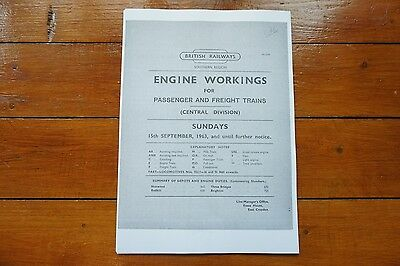 1963 Fascimilie Engine Workings Southern Region Central Division Pass Freight