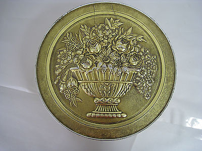 Rare Vintage Smith Crafted Chicago Round Fruitcake Cookie Antique Tin Box