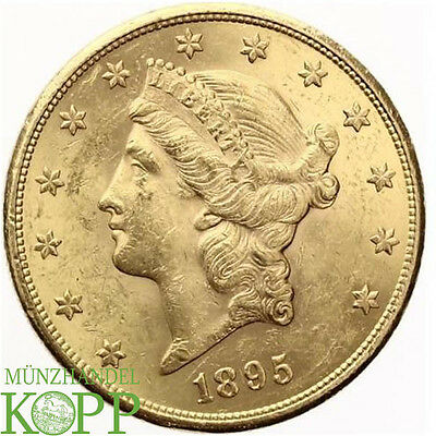 AA1221) USA 20 Dollar 1895 S GOLD