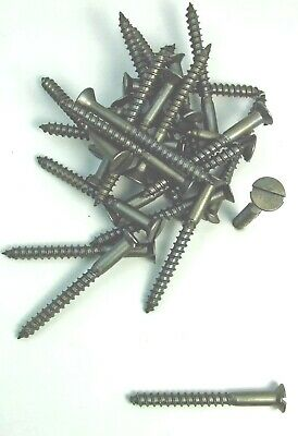 "Wood Screws Flat Head Slotted Plain Steel #10 X 2"" WS102"