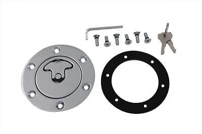 Aircraft Style Gas Cap Vented, EA,for Harley Davidson motorcycles,by V-Twin
