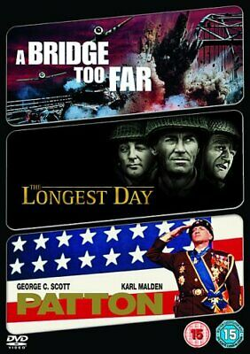 The Longest Day/A Bridge Too Far/Patton [DVD] - DVD  8CVG The Cheap Fast Free