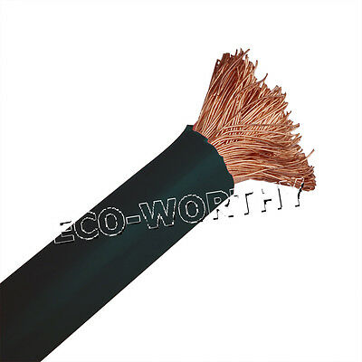 600V 3M Black Copper Welding Cable 15mm² (6AWG) for Car Battery Leads UK Stock
