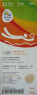 TICKET 11.8.2016 Olympia Rio Beachvolleyball # B76
