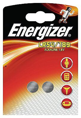 ENERGIZER Lot de 10 Blisters de 2 piles calculatrices/photo 189 LR54