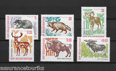 BULGARIE - 1973 YT 2008 à 2013 ANIMAUX SAUVAGES - TIMBRES NEUFS** MNH LUXE