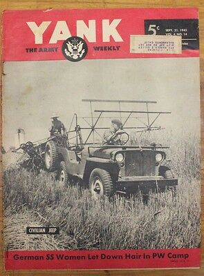 Military Related Magazine:  Yank - Sept 21, 1945 - 37th Inf Div, Jane Russell
