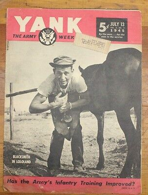 Military Related Magazine:  Yank - July 13, 1945 - Kamikazes