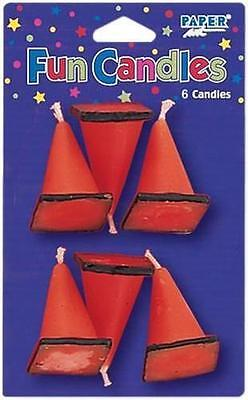 Construction, Trucks & Diggers, Builder Party Traffic Cones Candles x 6