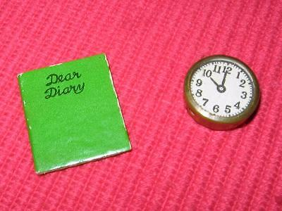 Vintage Barbie Accessories For Sweet Dreams Clothes Diary Book &  Tlc Clock Lot