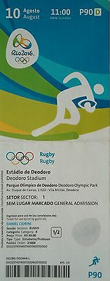 Neuseeland # P90 mint TICKET A 10.8.2016 Olympia Rio Olympic Rugby Fidschi