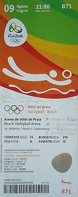 TICKET 9.8.2016 Olympia Rio Beachvolleyball # B71