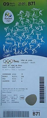 TICKET A 9.8.2016 Olympia Rio Beachvolleyball # B71