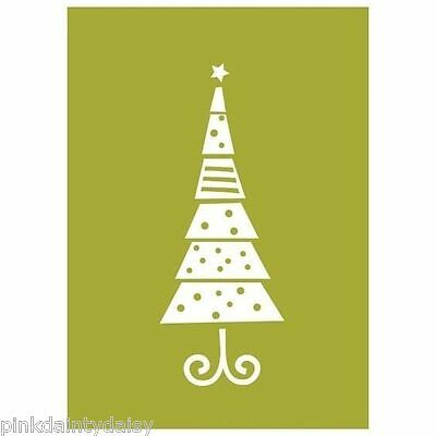 Quickutz  Lifestyle   CHRISTMAS TREE   Embossing Folder  Scrapbook Cards Tags