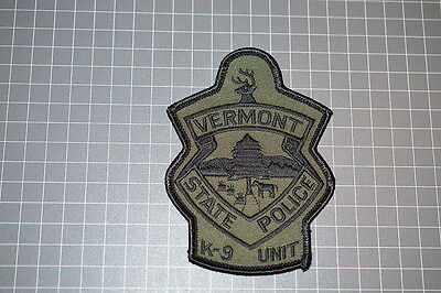 Vermont State Police K-9 Unit Patch (T3)