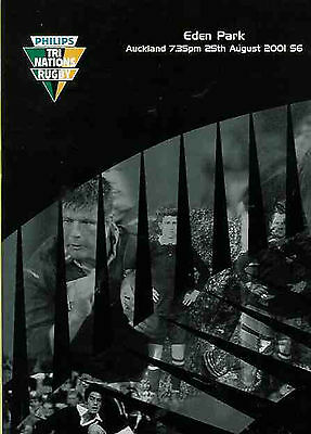 NEW ZEALAND v SOUTH AFRICA 2001 - 25 August RUGBY PROGRAMME