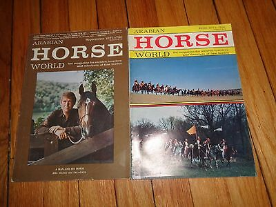 Arabian Horse World Magazine Lot Two issues from 1971