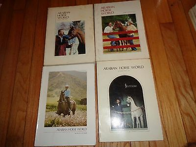 Arabian Horse World Magazine Lot four issues from 1980