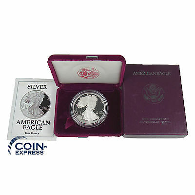 *** USA 1 Dollar Münze 1992 American Silver Eagle PP Proof 1 oz Unze Silber ***