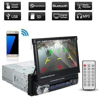 """7"""" Single 1Din Dash Car Radio Stereo Video Player Bluetooth SD USB Touch MP5 US"""