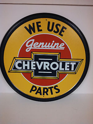 GENUINE CHEVROLET PARTS Vintage Retro Style Metal Tin SIgn New