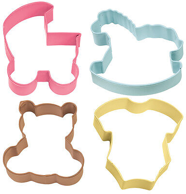 """Metal Cookie Cutter Set 4/Pkg-Baby Theme, Set Of 3"""