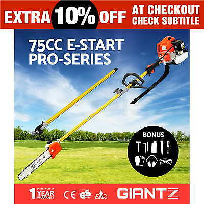 NEW 75cc Pole Chainsaw Petrol Chain Saw Tree Pruner Tool Cutter Brush Giantz