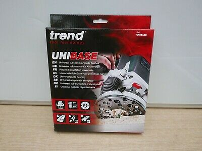 Trend Unibase Router Base Adaptor For Guide Bushes + 6 Carpentry Pencils