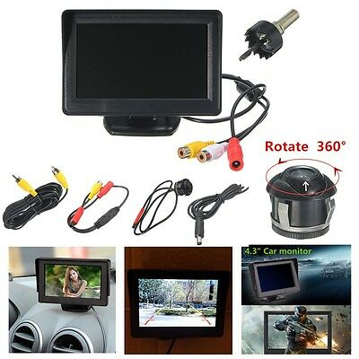 Coche 4.3'' LCD Color Monitor + 360° Front/Sides/Rear Reverse Parking HD Cámara
