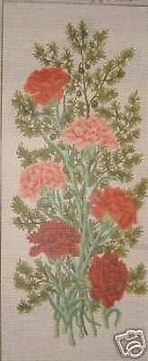 Carnations Flower Panel Tapestry Needlepoint Canvas