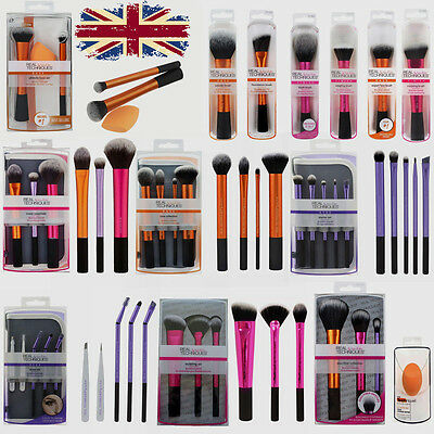 New Real TECHNIQUES Makeup Brushes Starter Kit/ Core Collection/Travel Set UK