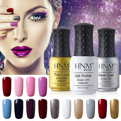 HNM 8ml Esmalte de Uñas en Gel UV LED Color Semi permanente Soak off Manicura