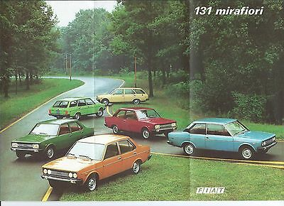 Fiat 131 Mirafiori 2 4 5 door Combi Special Swedish Language Brochure Prospekt