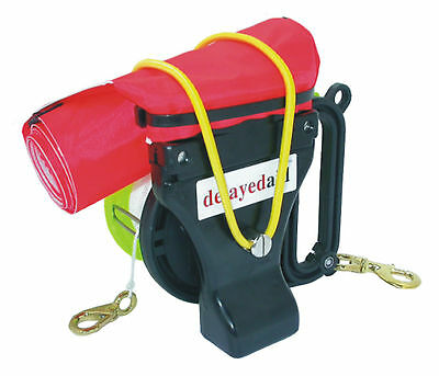 Delayed Aid Reel Scuba Diving SMB Wreck Reel Surface Marker Buoy 40m Mini