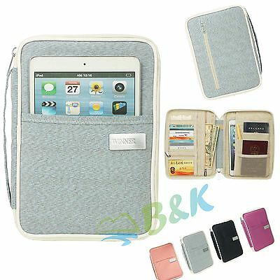 Travel Organizer Bag Money Passport Card Document Holder Wallet Handbag A5 Mini