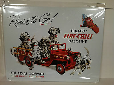 TEXACO FIRE CHIEF GASOLINE Vintage Retro Style Metal Tin SIgn New