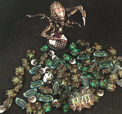 MuseonMinis Warmachine Cryx Faction Tokens MKIII Full Color + Slayer/Erebus