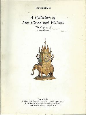 SOTHEBY'S London CLOCKS WATCHES Collection Auction Catalog 1978