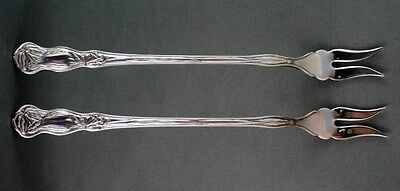 2 Rogers Oneida Orchid Pickle or Seafood Fork Simeon George TWO