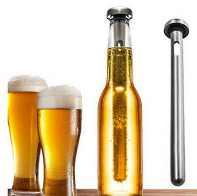 1pc home bar stainless steel beer wine bottle chiller pod cooler stick