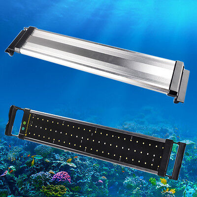 Aquarium Fish Tank Over-Head Lamp LED Light Lighting Extendable Blue/ White+Blue