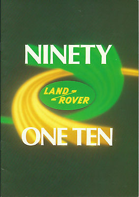 Land Rover Ninety 90 One Ten 110 and Commercial Options Brochure 1985