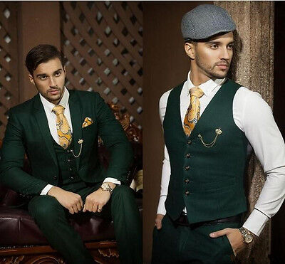 2016 Custom Made Dark Green Slim Fit Men Suits Formal Occasion Business Suits