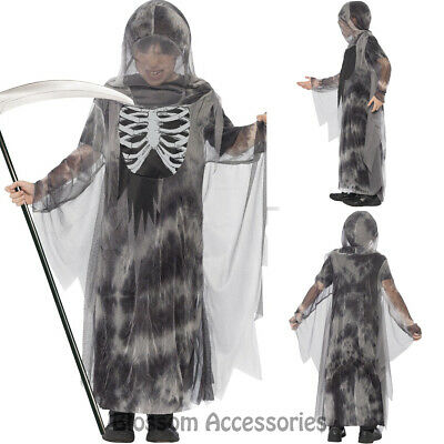 CK874 Ghostly Ghoul Boys Girls Halloween Costume Ghost Horror Scary Grim Reaper