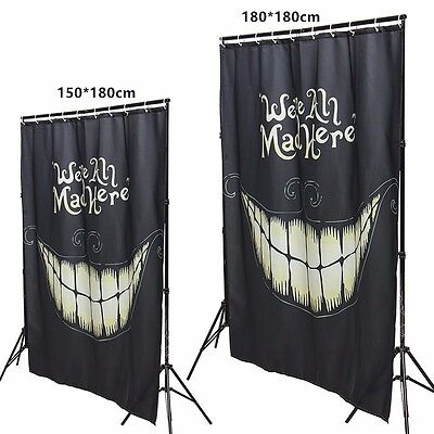 Halloween Weird Smile Cortina Baño Ducha Impermeable Cortina Decoración 12 Hooks