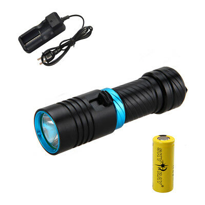 5000Lm Dive CREE XML L2 LED Torce Immersione luce subacquea 26650 ricaricabile