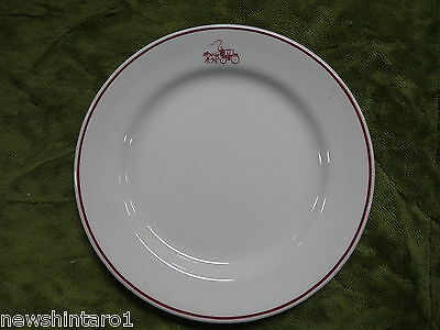 #Bb7.  Hotel Ware  Plate -  Horses &  Carriage