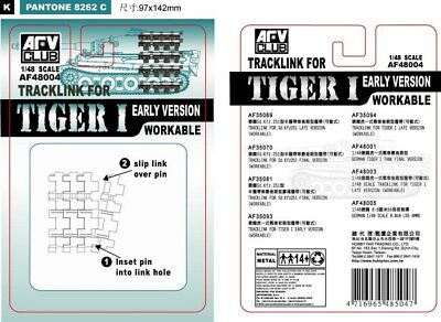 Afv Club 48004 - 1/48 Workable Track Link Tiger I (Early) - Neu