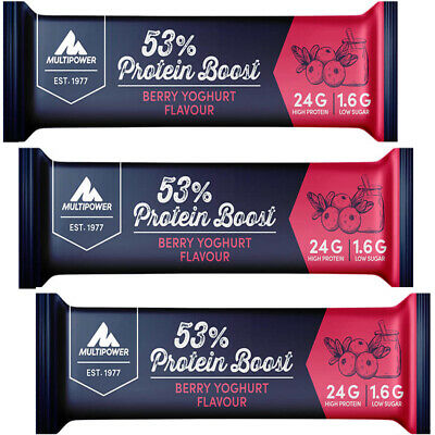 (29,83 Eur/kg) Multipower 53% Protein Bar 12 x 50g Eiweiß Riegel Bar Alle Sorten