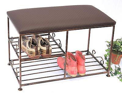 schuhbank schuhregal schuhst nder aus metall schuhablage sitzbank schuhschrank eur 79 00. Black Bedroom Furniture Sets. Home Design Ideas